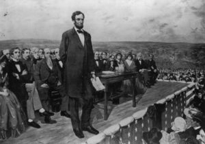 Lincoln Giving Gettysburg Address
